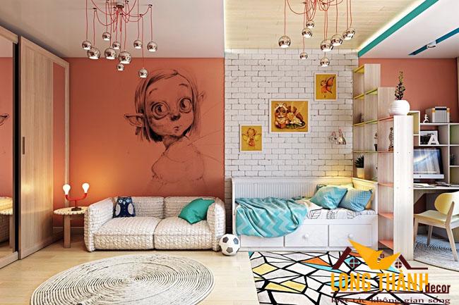 Những mẫu phòng ngủ cao cấp đẹp kích thích sự sáng tạo của các bé