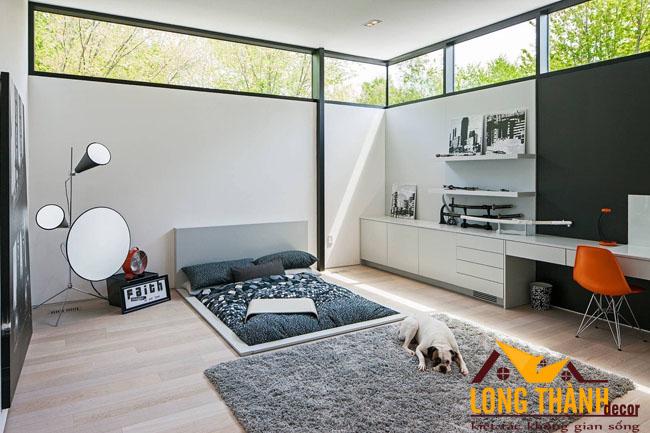 Những mẫu thiết kế giường ngủ Nhật dành cho phòng ngủ chung cư