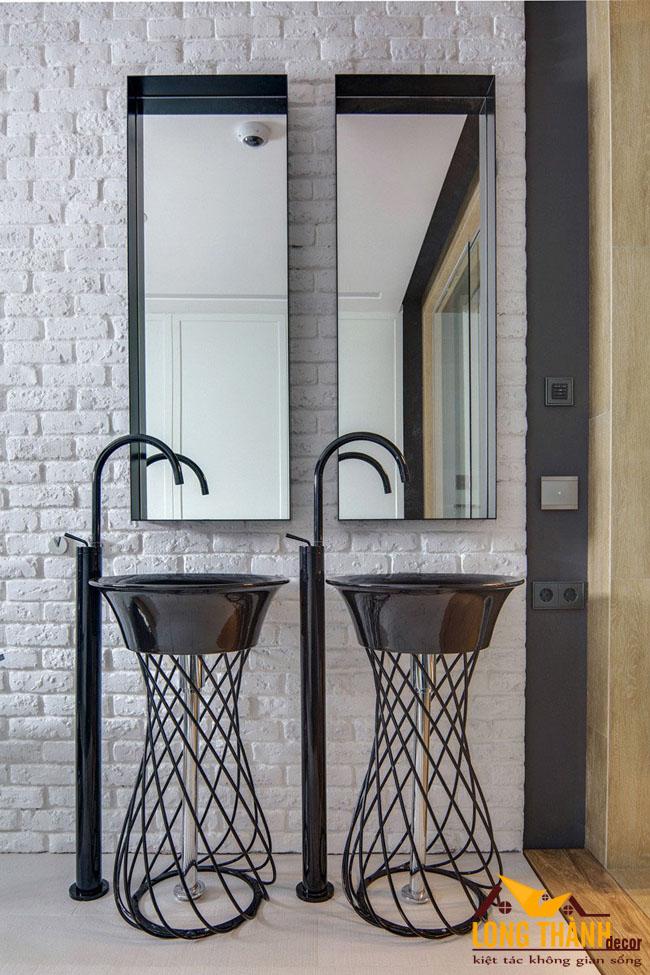 Những mẫu thiết kế tủ Lavabo dành cho không gian nhà tắm có diện tích rộng