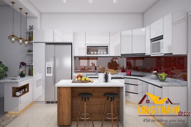 Những mẫu tủ bếp hiện đại dành cho nhà biệt thự