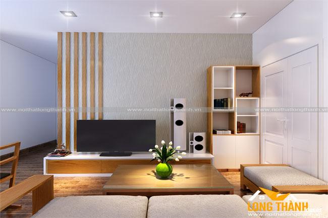 Nội thất chung cư với không gian hẹp ngang