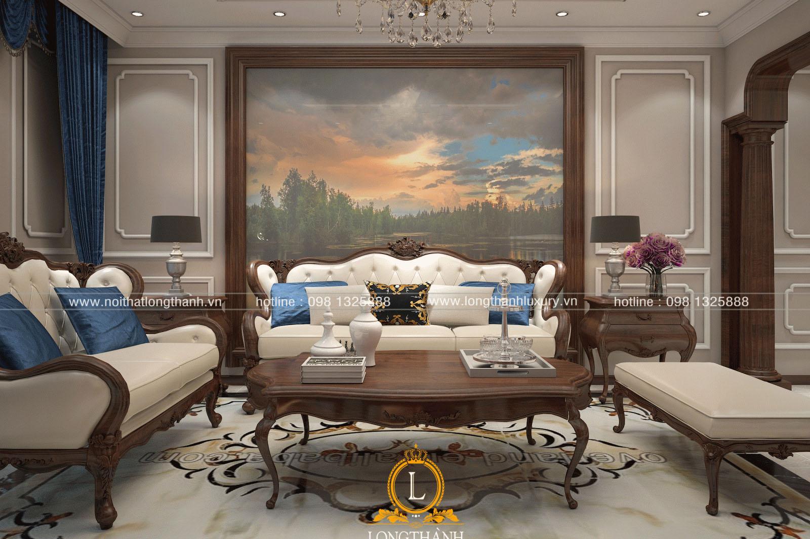 Mẫu sofa tân cổ điển đẹp LT09 góc nhìn thứ 1