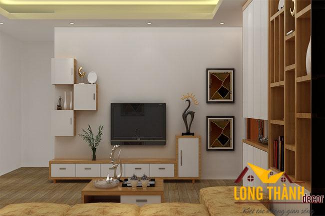 Nội thất phòng khách hiện đại dành cho căn hộ chung cư
