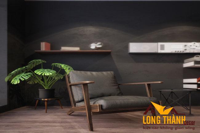 Nội thất phòng ngủ cao cấp bằng gỗ Óc chó sang trọng với tông nâu - xám