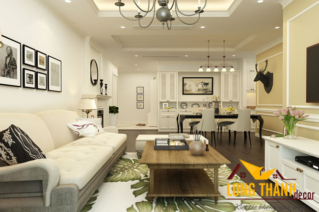 Phòng khách biệt thự đẹp LT02