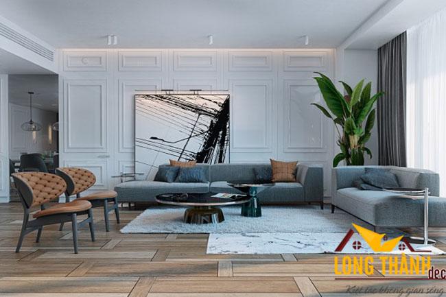 Thiết kế nội thất phòng khách biệt thự đẹp LT04