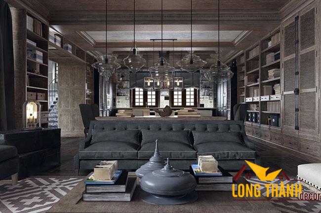 Thiết kế mẫu phòng khách biệt thự đẹp LT08 năm 2017