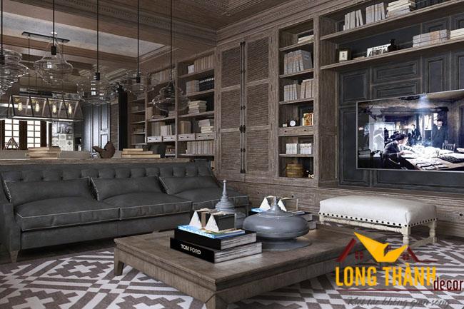 Phòng khách biệt thự đẹp LT08