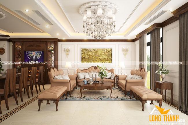 Mẫu phòng khách biệt thự đẹp LT14