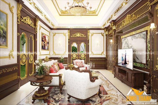 Thiết kế nội thất phòng khách biệt thự đẹp LT15