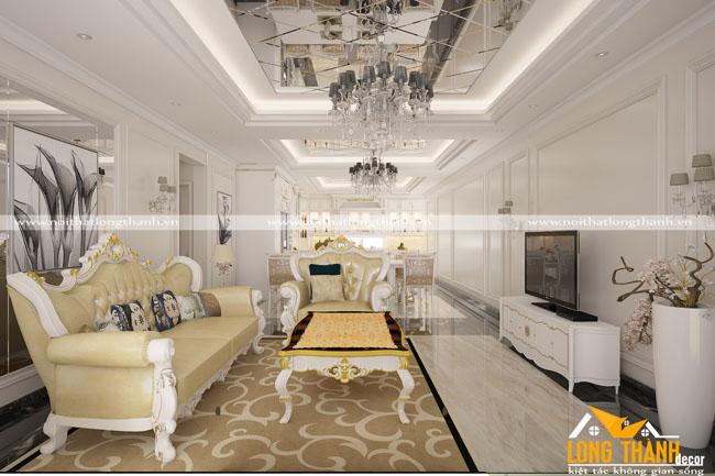 Thiết kế phòng khách biệt thự đẹp LT16
