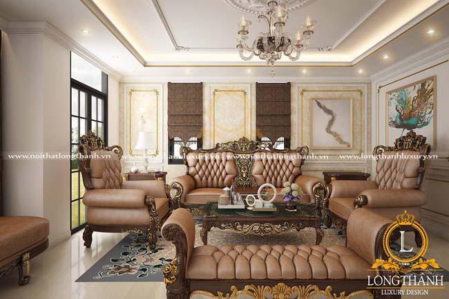 Phòng khách biệt thự đẹpLT17 góc nhìn thứ 1