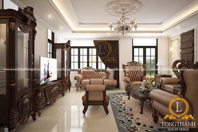Phòng khách biệt thự đẹpLT17 góc nhìn thứ 2