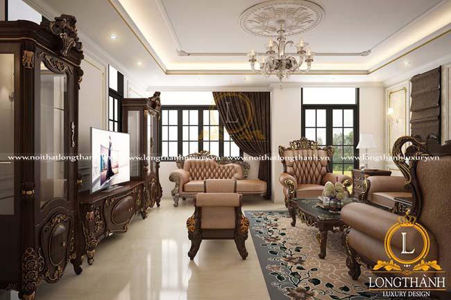 Phòng khách biệt thự đẹp LT17