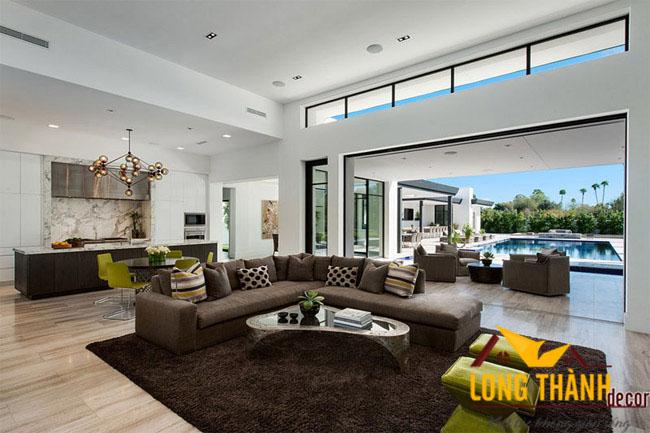 thiết kế nội thất phòng khách biệt thự LT06