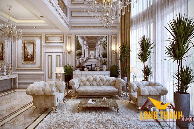 Thiết kế phòng khách biệt thự đẹp LT07