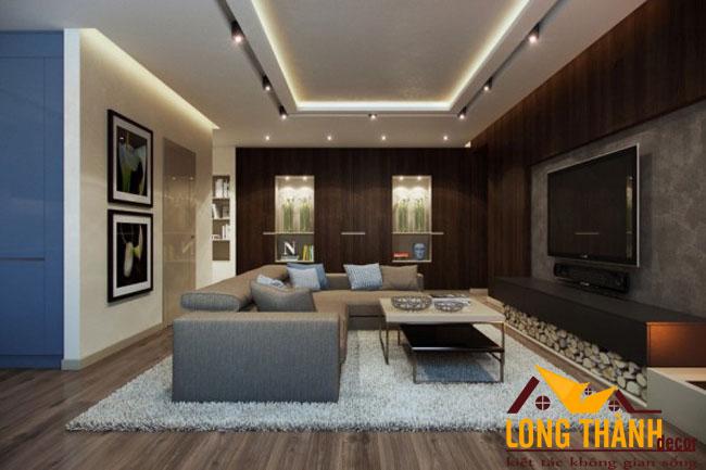 Phòng khách gỗ Laminate