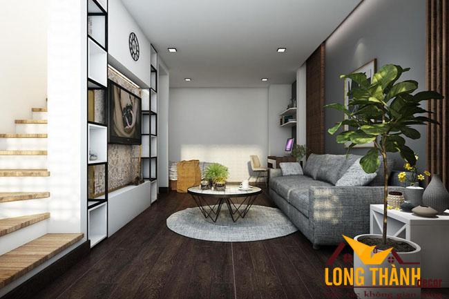 Thiết kế nội thất phòng khách hiện đại dành cho nhà phố