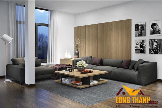 Thiết kế nội thất phòng khách hiện đại đẹp, sang trọng