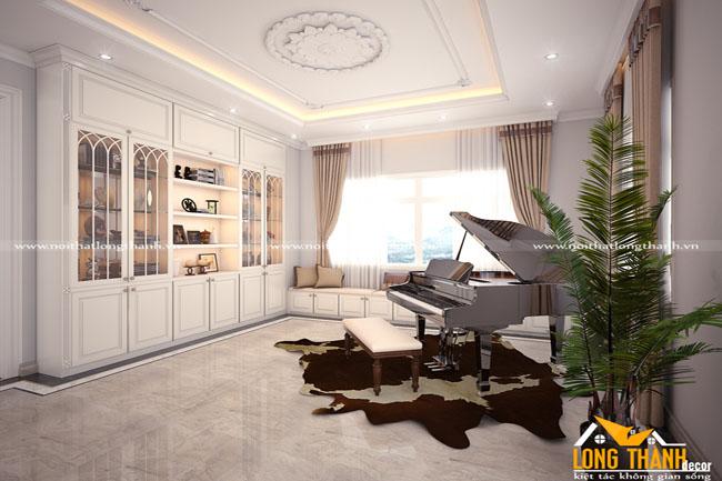 Mẫu phòng khách tân cổ điển cho nhà biệt thự