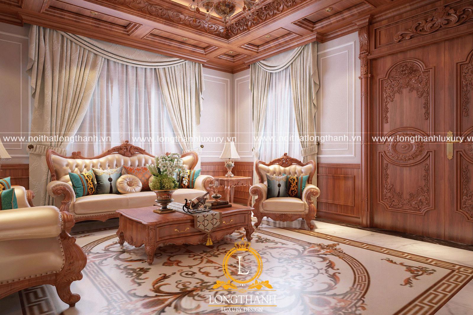 Mẫu sofa tân cổ điển đẹp LT11 góc nhìn thứ 2