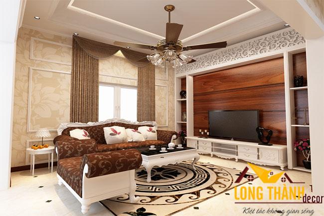 Thiết kế phòng khách tân cổ điển LT06