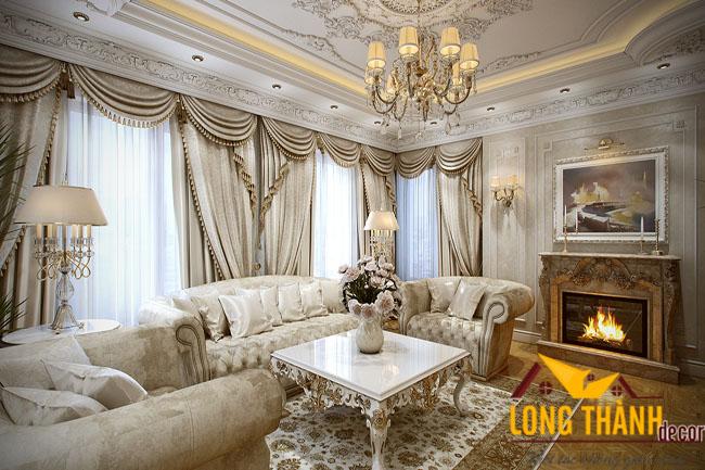 Phòng khách tân cổ điển LT08