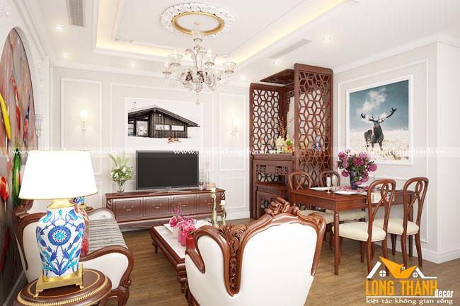 Mẫu thiết kế phòng khách tân cổ điển LT19