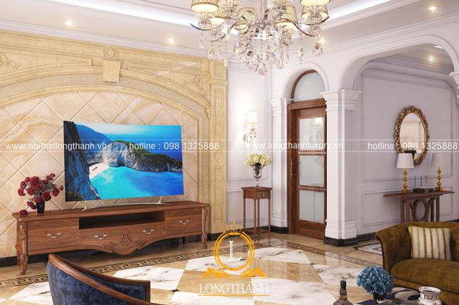 Mẫu thiết kế phòng khách tân cổ điển LT23