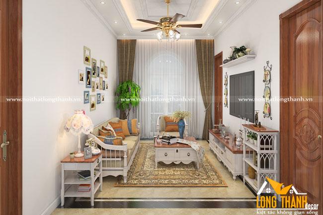 Xu hướng thiết kế nội thất tân cổ điển sơn trắng năm 2019