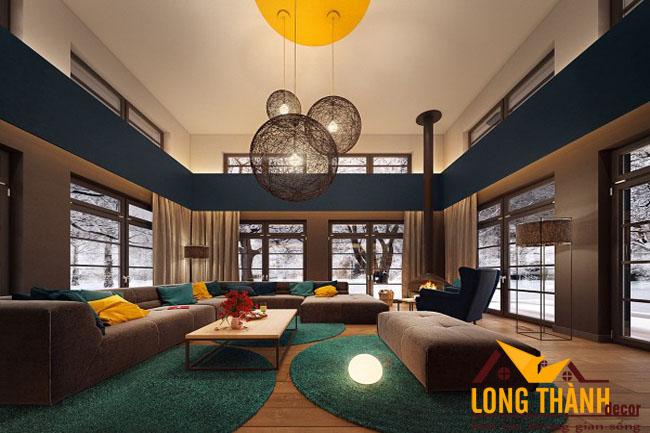 Phòng khách thông tầng đẹp dành cho nhà ở biệt thự