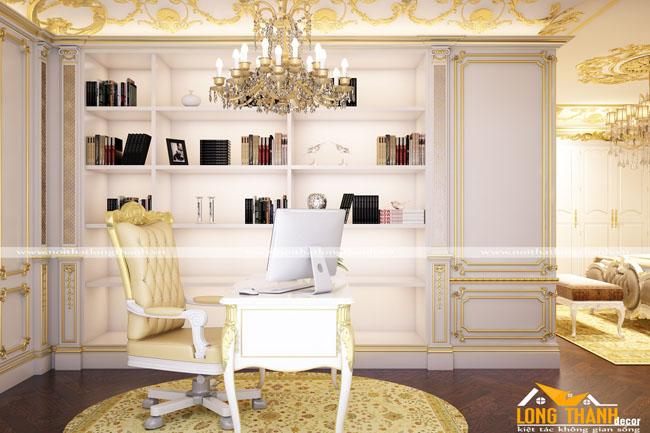 Phòng ngủ biệt thự với phong cách thiết kế cổ điển