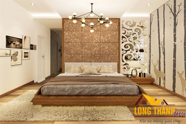 Phòng ngủ cao cấp bằng gỗ Verneer sồi