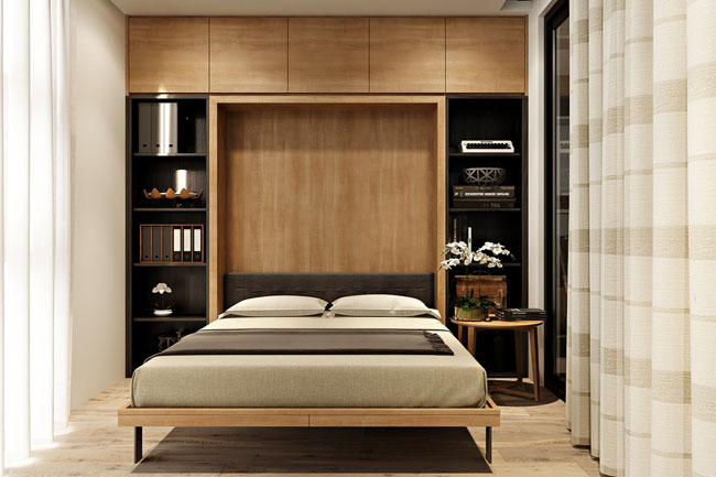 Phòng ngủ cao cấp cho căn hộ chung cư Vinhom Nguyễn Chí Thanh