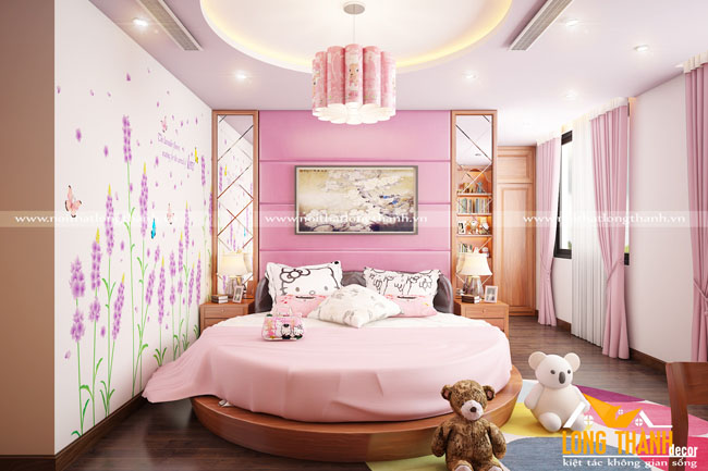 Phòng ngủ cao cấp dành cho bé gái