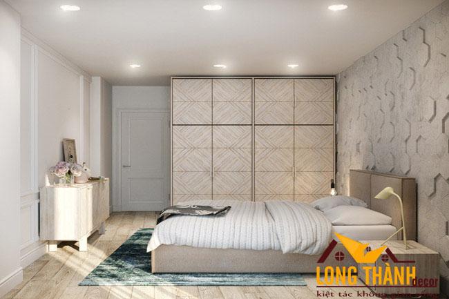 Phòng ngủ cao cấp độc đáo với chất liệu gỗ Laminate