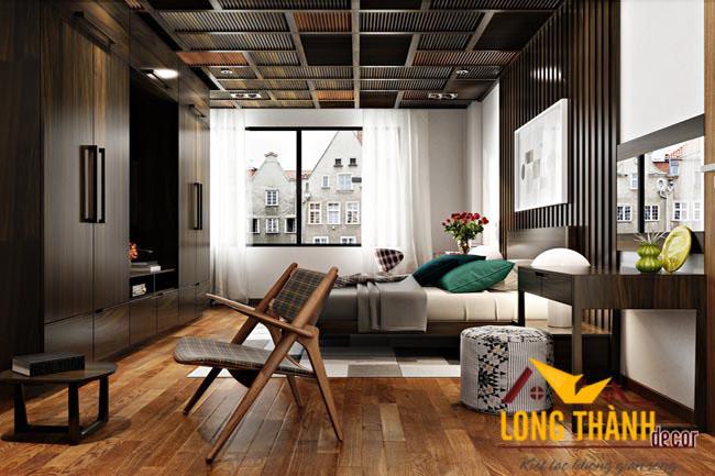 Phòng ngủ cao cấp gỗ tự nhiên óc chó