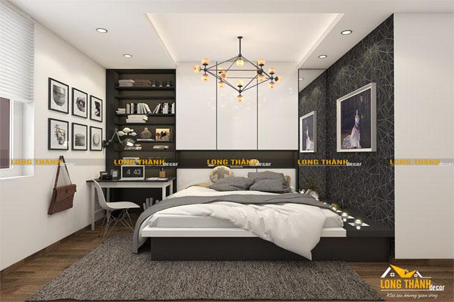 Phòng ngủ con trai tại chung cư Royal City