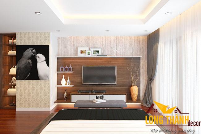 Phòng ngủ đẹp bằng gỗ tự nhiên óc chó Mã PN01