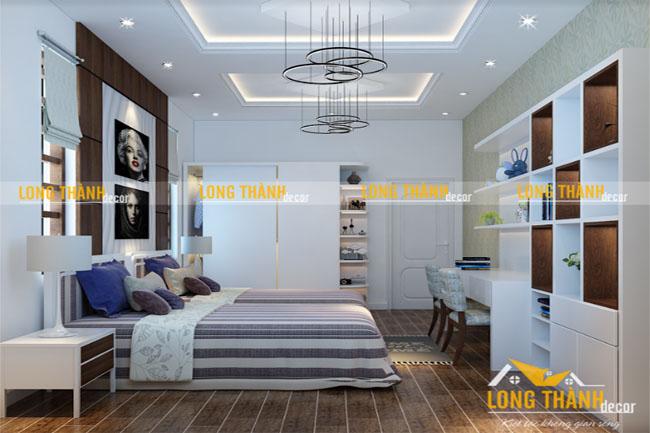 Thiết kế phòng ngủ đôi hiện đại dành cho con gái 2017