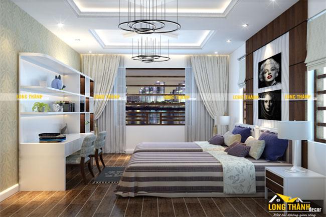 Phòng ngủ đôi hiện đại dành cho con gái