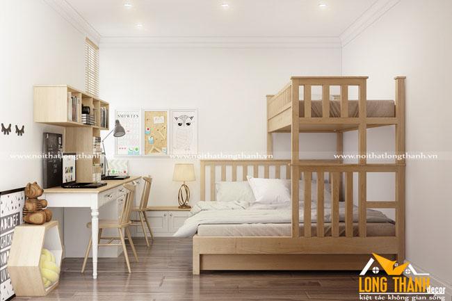Phòng ngủ đôi hiện đại dành cho phòng ngủ hẹp