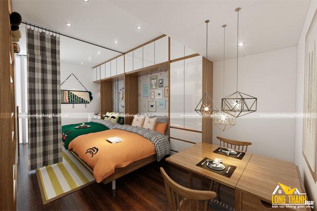 Phòng ngủ cao cấp đôi thông minh cho những phòng ngủ hẹp