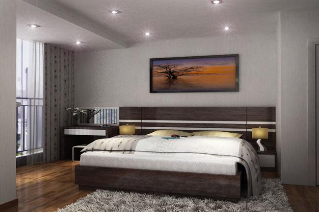 Phòng ngủ hiện đại bằng gỗ công nghiệp Laminate