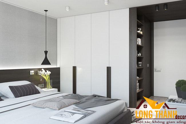 Phòng ngủ gỗ Laminate hiện đại, sang trọng