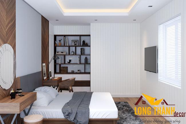 Phòng ngủ cao cấp bằng gỗ Óc chó – Sang trọng, tinh tế.