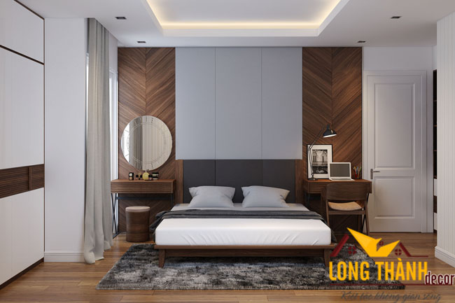 Phòng ngủ gỗ Óc chó – Sang trọng, tinh tế