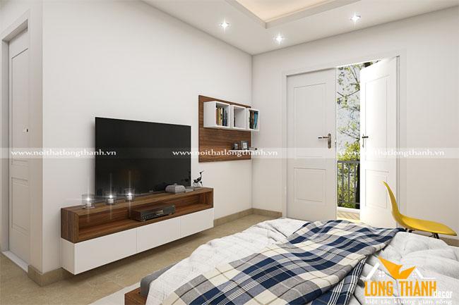 Thiết kế phòng ngủ cao cấp bằng gỗ Veneer Óc chó hiện đại, sang trọng