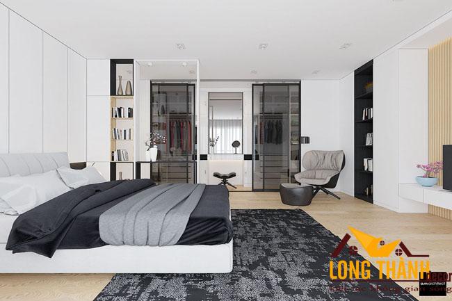 Thiết kế nội thất phòng ngủ hiện đại dành cho nhà biệt thự