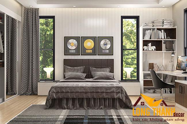 Thiết kế nội thất phòng ngủ hiện đại dành cho nhà phố